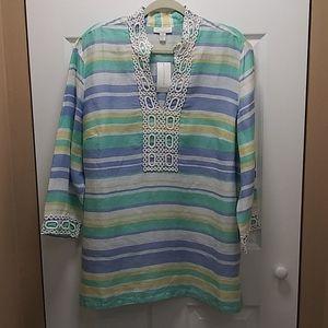 Charter Club Endless Summer Linen Tunic Top